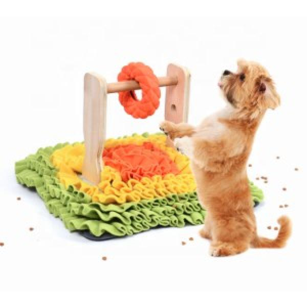 Pet snuffle mat with treat dispenser toy dog nose foraging training blanket